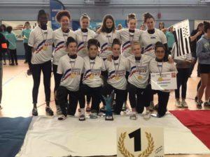 UNSS : les filles de mescoat championnes de france !
