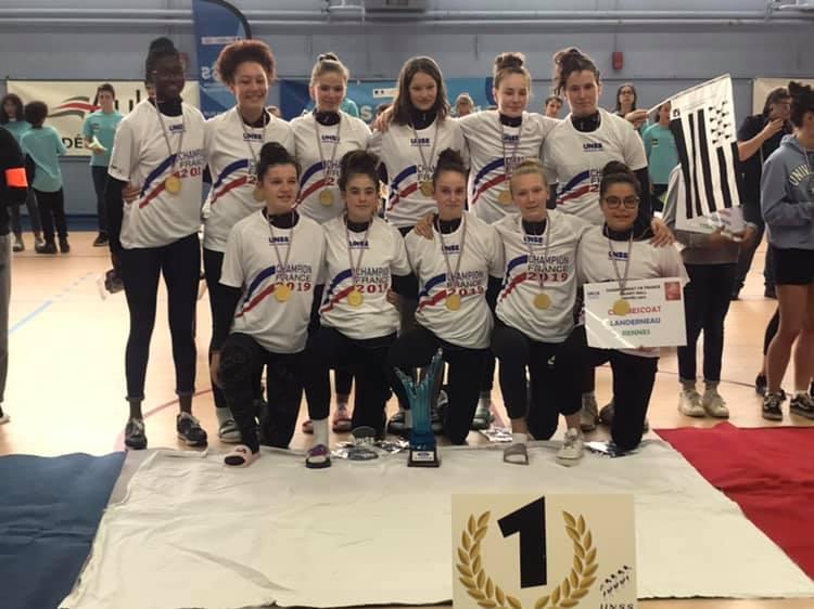 unss 2019 mescoat landerneau championnes de france