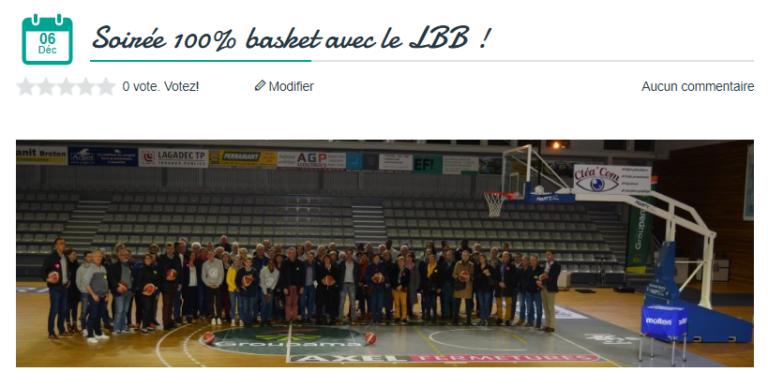Landerneau Bretagne Basket soiree partenaires groupama