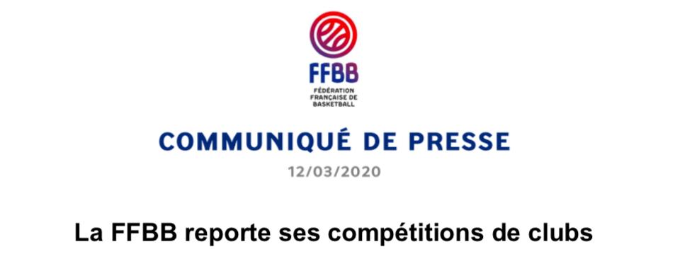 communiqué ffbb covid 19