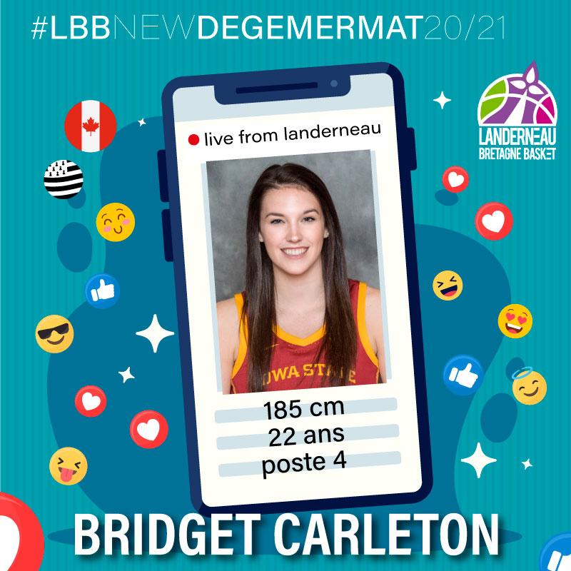 Bridget Carleton, joueuse LBB saison 2020 2021